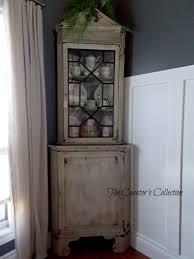 antique chippy corner hutch the curators collection