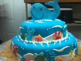 Whale Baby Shower Cake Youtube
