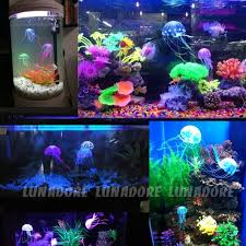 fish tank decorations that move effect artificial jellyfish