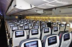 siege boeing 777 300er air business class seats on air canada editorial image image of