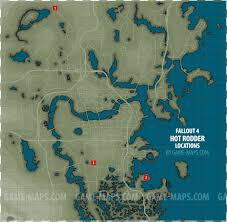Fallout 3 Map With All Locations by All 3 Rodder Magazines Locations Map Fallout 4