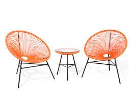 Acapulco Outdoor Chair Patio Bistro Set Orange Acapulco