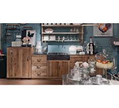 cuisine en pin cuisine en orme et marbre 4 éléments et 2 bacs à évier camargue 4537