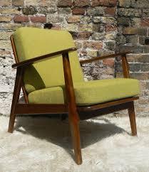 50s Armchair 1960s Danish Armchair New Tweed Upholstery 50s 70s Retro Vintage