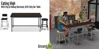 Utby Bar Table Around The Sims 4 Custom Content 2017 Advent Calendar