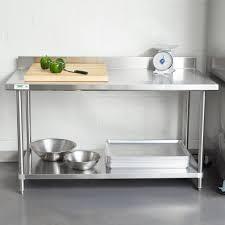 Kitchen Utility Tables - island industrial kitchen work table sportsman stainless steel