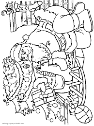 santa brought presents coloring pages