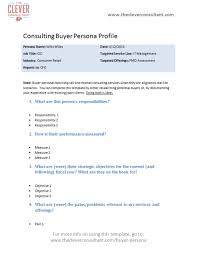 b2b consulting buyer persona template the clever consultant