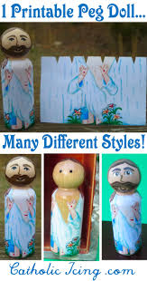 peg dolls all about painted wooden saint dolls for catholic kids