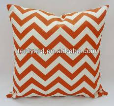 coussins orange orange chevron decorative throw taie d oreiller canapé taie d