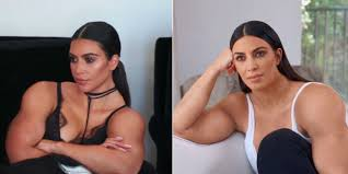 Muscle Man Meme - kim kardashian gets super buff in twitter meme the blemish