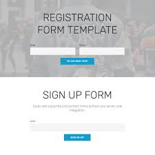 free html bootstrap registration form template