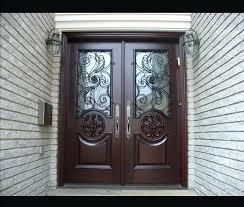 Exterior Entry Doors With Glass Exterior Doors 9 Lite Half Clear Glass Steel Exterior