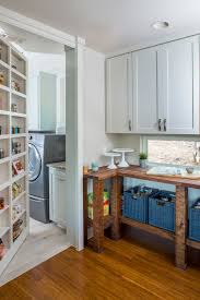 Diy Hidden Bookcase Door Kitchen Laundry Ideas Laundry Room Transitional With Custom Design