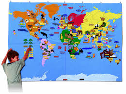Argentina World Map by Fabric World Map Giant Size