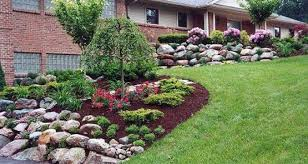 nice backyard simple landscaping ideas home round