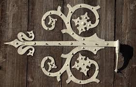ornamental door hinge stock photo image of metal gate 29067742