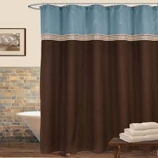 Brown And Teal Shower Curtain by Curtains Brown And Teal Shower Curtain World Market Shower