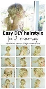 cute girl hairstyles diy easy diy homecoming hairstyle cute girls hairstyles