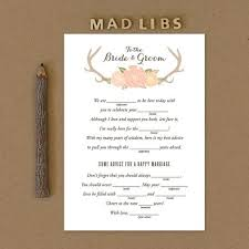 bridal mad libs wedding mad libs for engagement party bridal shower and bachelorette