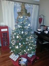 my harry potter tree with working hogwarts express