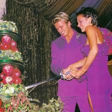 Purple Wedding Dress Victoria Beckham U0027s Purple Wedding Dress Popsugar Fashion