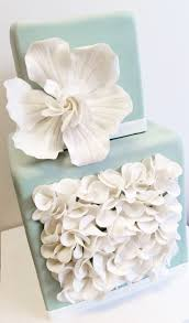 wedding cake gum wedding cake in mint with fondant ruffles and gum paste
