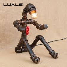 Retro Table Ls Luals Loft Industrial Water Pipes Retro Table L Robot Model