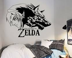 vinyl wall stickers of zelda wolf link vinyl wall art decals removable wall stickers