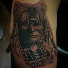 Wolf Indian Tattoos - wolf on indian ideas designs