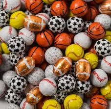 halloween chocolate balls thompson sports balls assorted foil wrapped sweet city candy