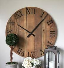 25 30 wedding gift custom large wooden wall clock