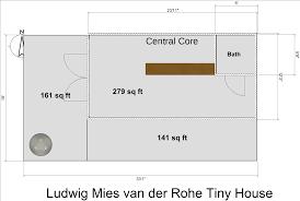 tiny house floorplans a mies van der rohe tiny house u2013 modern tiny house