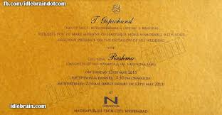 Wedding Invitation Card Quotes In Actor Gopichand U0027s Wedding Invitation Telugu Cinema News