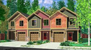 Triplex House Plans Craftsman Triplex With Townhouse Potential 38028lb