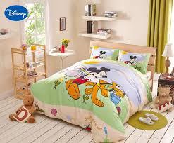 kinder schlafzimmer disney mickey mouse goffy hunde bettwäsche textil für