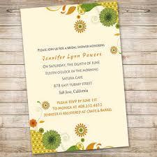 inexpensive bridal shower invitations discount yellow sunflower online bridal shower invitations ewbs009