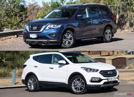 toyota highlander vs nissan pathfinder 2018 hyundai santa fe vs nissan pathfinder 7 seat suv comparison