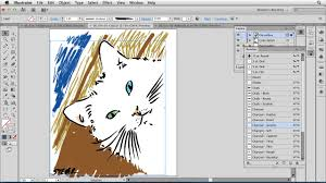artistic painting with illustrator natural media brushes