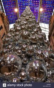 Christmas Tree Made Of Christmas Lights - christmas tree made of glitter balls victoria quarter leeds uk