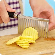 creative kitchen knives diy creative wavy potato knife cut easy to use stainless steel