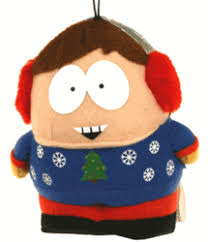 south park cartman with sweater plush ornament