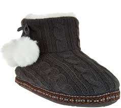 Womens Bedroom Slippers Memory Foam Slippers Mens Dearfoam Kohls Boots Costco Sweater Knit