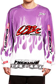 no fear motocross gear 032c motocross longsleeve flames