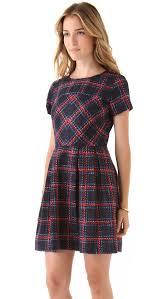 shoshanna allison plaid dress shopbop