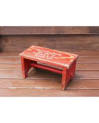 amazing deal on little red bench vintage childs wooden foot stool