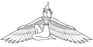 egyptian isis tattoo design