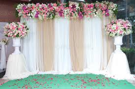 wedding backdrop flowers backdrop flowers arrangement for wedding ceremony stock photo