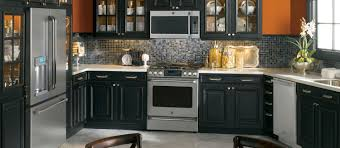 Paint Kitchen Cabinets Black by Gorgeous Painted Kitchen Cabinets With Black Appliances