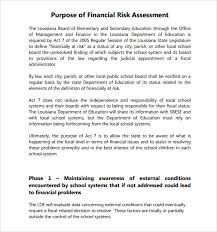 sample security risk assessment u2013 6 example format